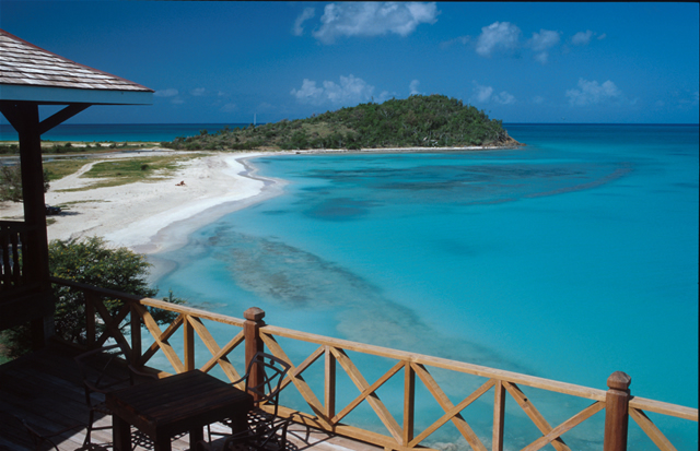 Blick auf Cocobay - View from a Bar at Cocobay, Antigua & Barbuda