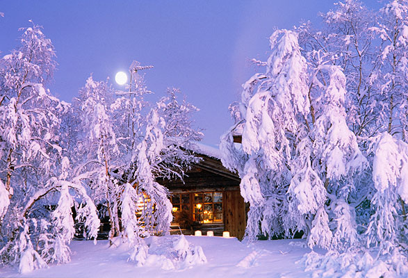 Winter Cottage, Finnland