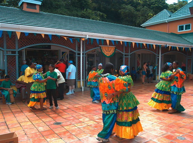 Dancers at Kingstown Cruise Ship Terminal, St Vincent and the Grenadines